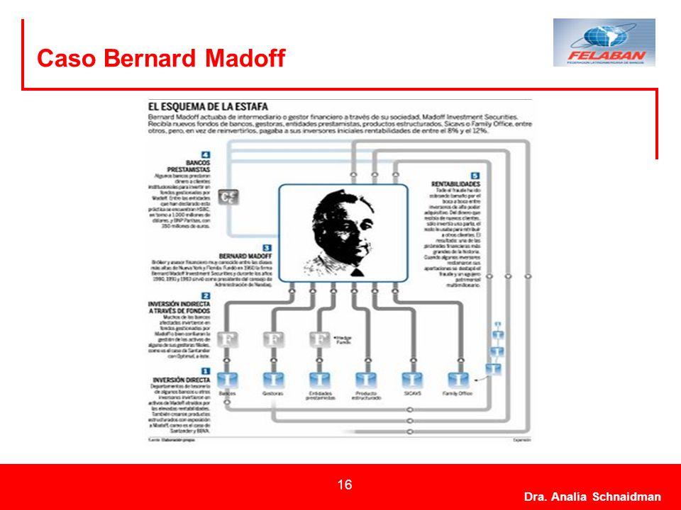 Dra. Analía Schnaidman 16 Caso Bernard Madoff