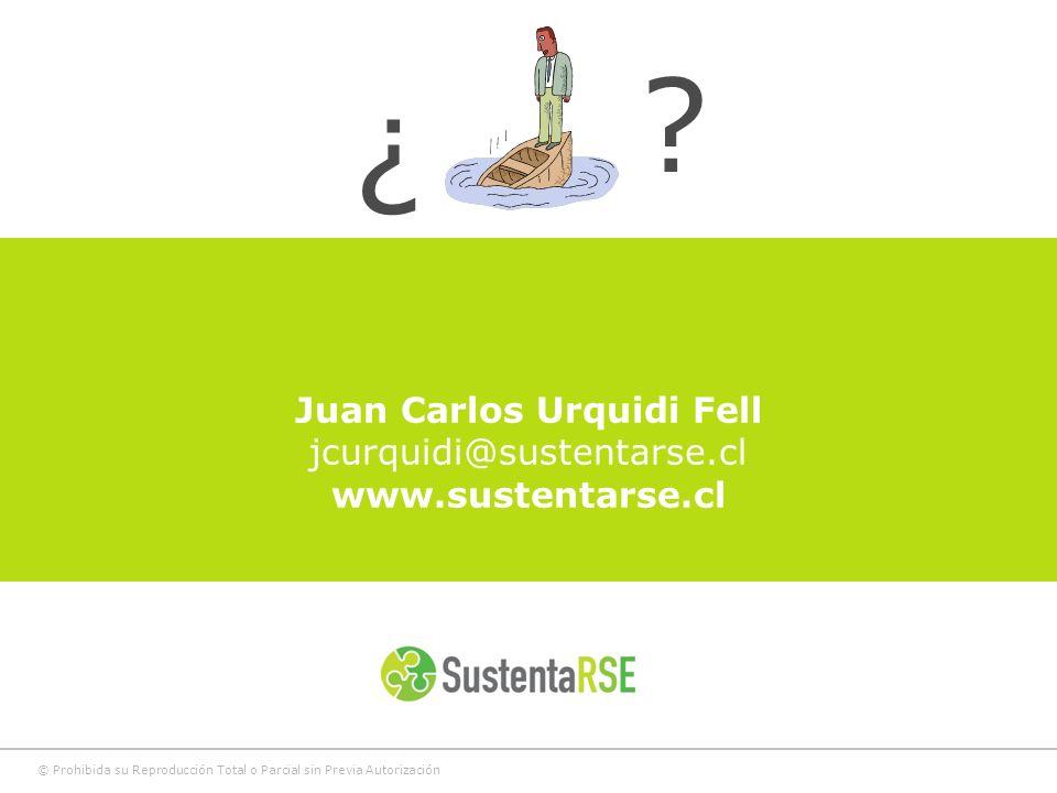 © Prohibida su Reproducción Total o Parcial sin Previa Autorización Juan Carlos Urquidi Fell jcurquidi@sustentarse.cl www.sustentarse.cl ? ¿