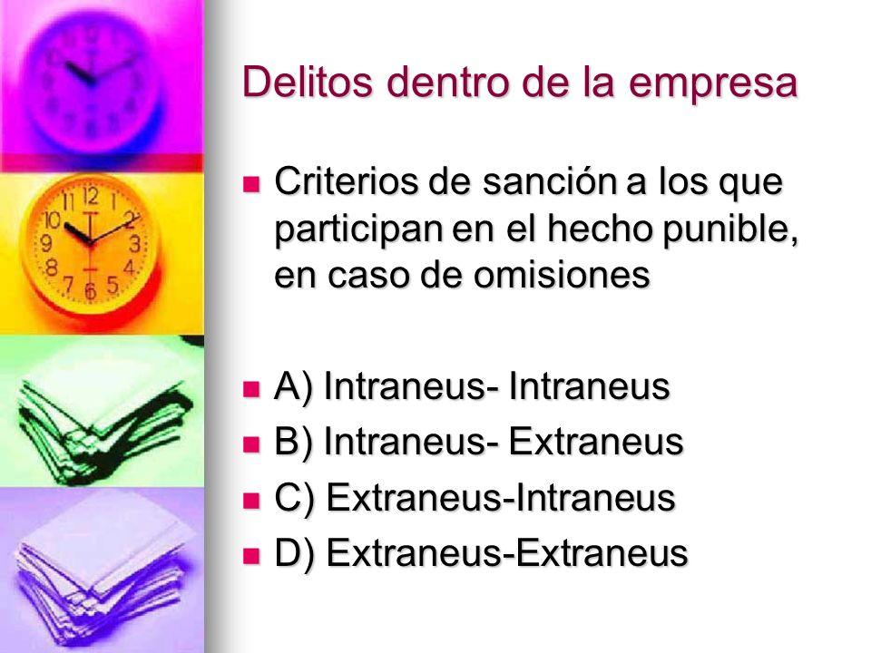 Criterios de sanción a los que participan en el hecho punible, en caso de acciones Criterios de sanción a los que participan en el hecho punible, en c