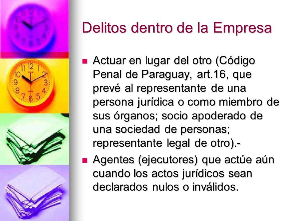 Delitos dentro de la Empresa Código Penal de Brasil, art. 13, 2°: relevancia de omisión, a) tenga obligación de cuidado, protección o vigilancia; b) q