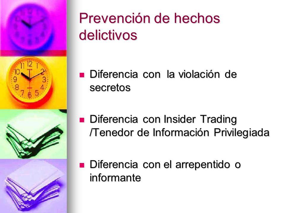 Prevención de hechos delictivos Whistleblowers [Enron; WorldCom; FBI]. Sarbanes-Oxley Act 2002 Whistleblowers [Enron; WorldCom; FBI]. Sarbanes-Oxley A