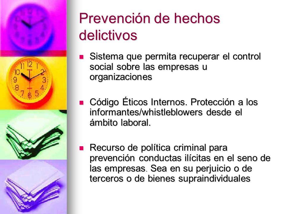 Prevención de hechos delictivos Diferencia con la violación de secretos Diferencia con la violación de secretos Diferencia con Insider Trading /Tenedo