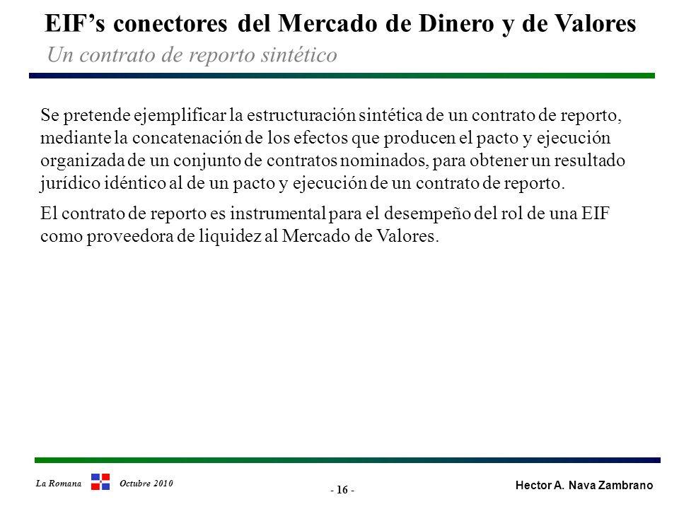 - 16 - EIFs conectores del Mercado de Dinero y de Valores Hector A.