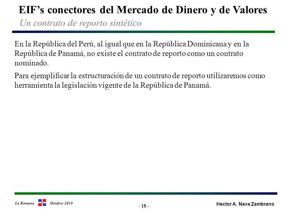 - 18 - EIFs conectores del Mercado de Dinero y de Valores Hector A.