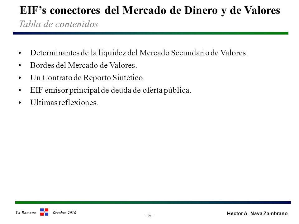 - 26 - EIFs conectores del Mercado de Dinero y de Valores Hector A.