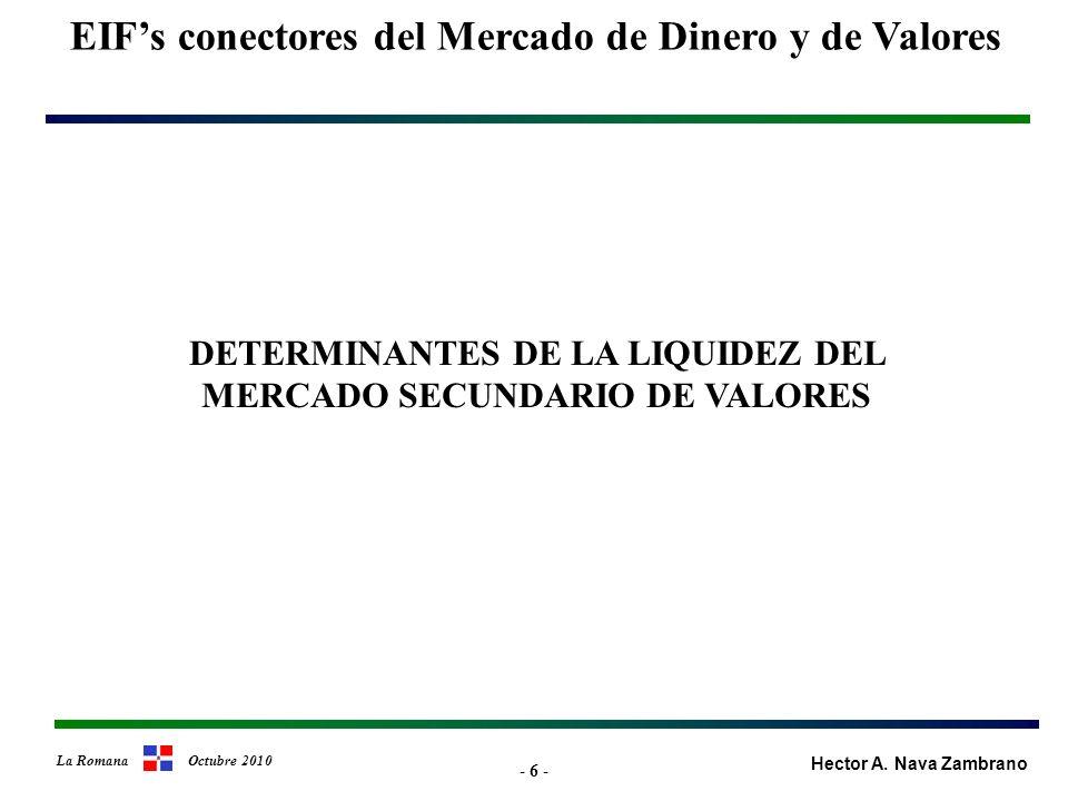 - 37 - EIFs conectores del Mercado de Dinero y de Valores Hector A.