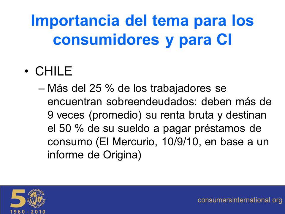 CHILE –Más del 25 % de los trabajadores se encuentran sobreendeudados: deben más de 9 veces (promedio) su renta bruta y destinan el 50 % de su sueldo