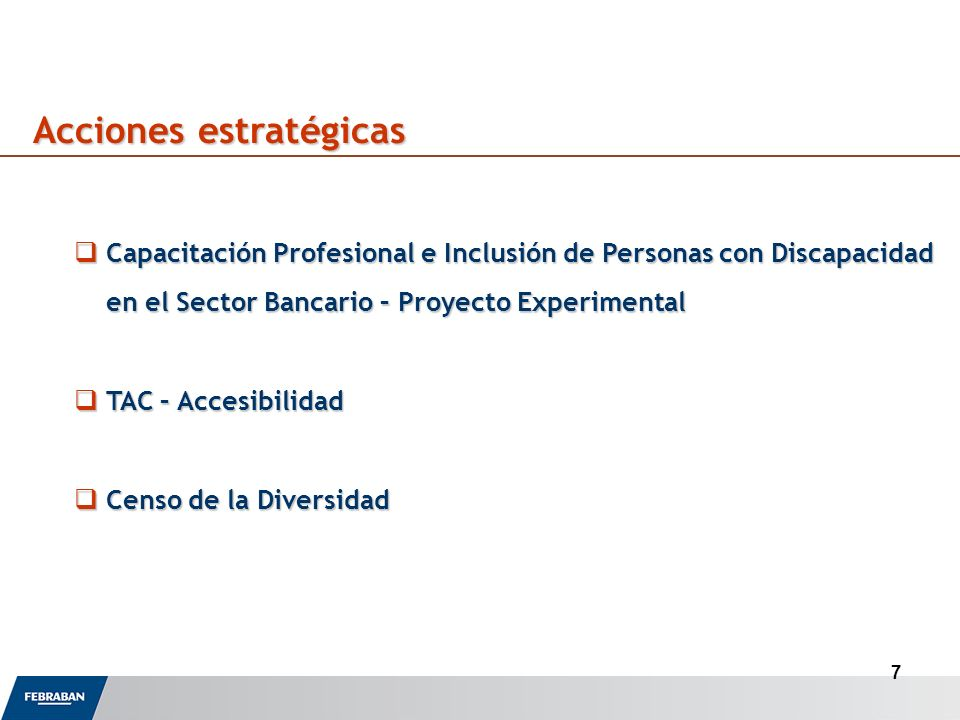8 Comisión bipartita de igualdad de oportunidades (FEBRABAN y Sindicatos) Comisión de Derechos Humanos Cámara de Diputados Especialistas, movimientos sociales de Mujeres y de Negros GT Técnico - Organización Internacional del Trabalho (OIT); Instituto de Estudios Económicos Aplicados (IPEA), Sindicado de Bancarios (CONTRAF); Instituto Brasileño de Geografía y Estadística (IBGE); Ministerio Público de Trabajo, CEERT Consultoría y FEBRABAN Actores sociales involucrados en las acciones Práctica del Diálogo Social