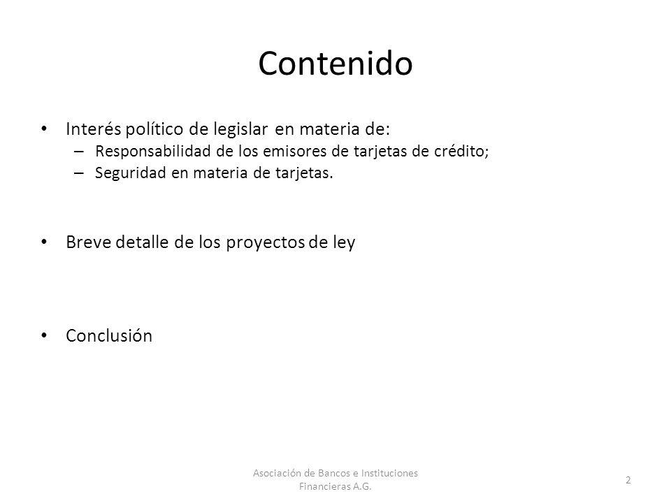 Contenido Interés político de legislar en materia de: – Responsabilidad de los emisores de tarjetas de crédito; – Seguridad en materia de tarjetas. Br