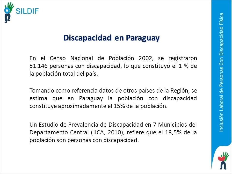En el Censo Nacional de Población 2002, se registraron 51.146 personas con discapacidad, lo que constituyó el 1 % de la población total del país. Toma