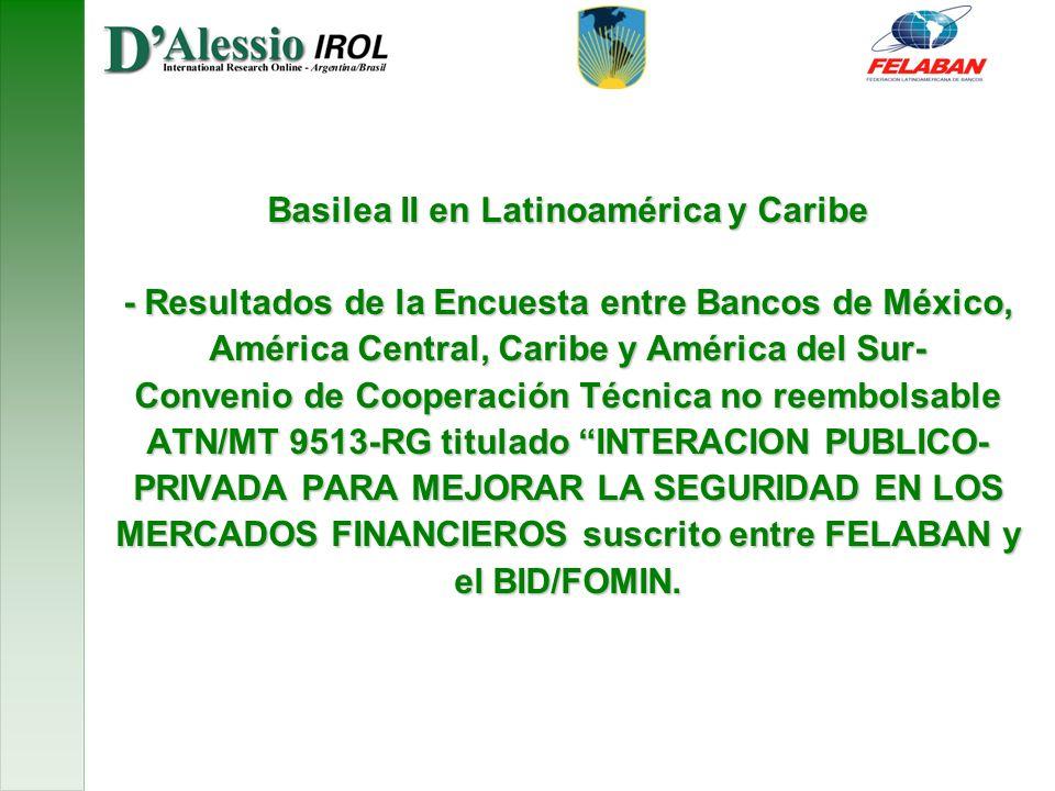Basilea II en Latinoamérica y Caribe - Resultados de la Encuesta entre Bancos de México, América Central, Caribe y América del Sur- Convenio de Cooper