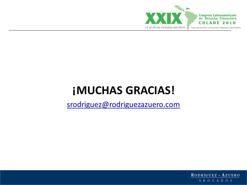 ¡MUCHAS GRACIAS! srodriguez@rodriguezazuero.com