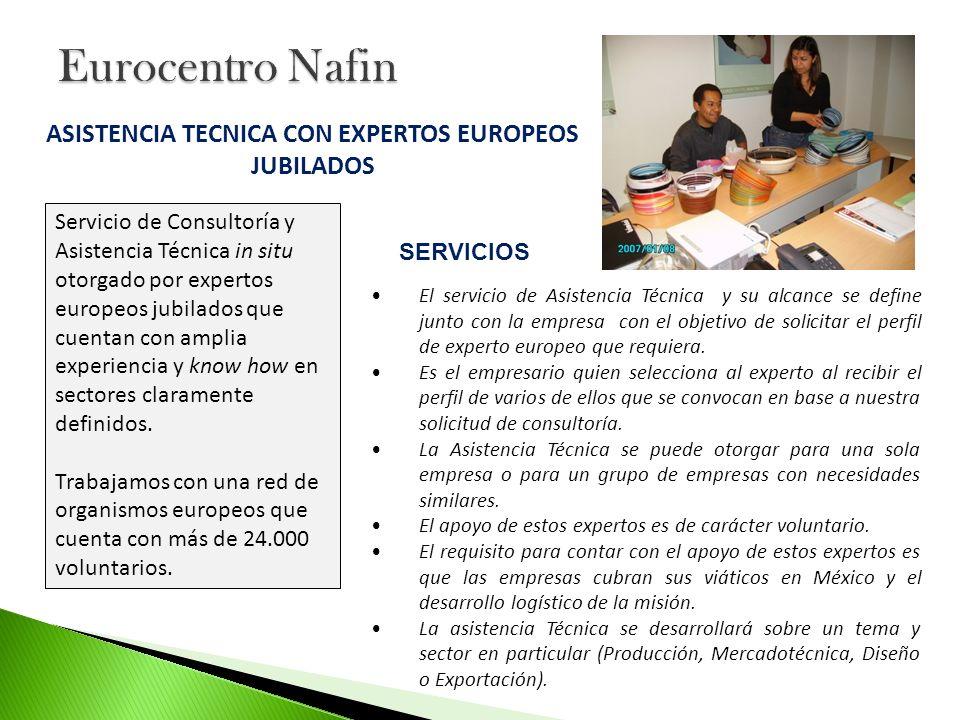 El servicio de Asistencia Técnica y su alcance se define junto con la empresa con el objetivo de solicitar el perfil de experto europeo que requiera.