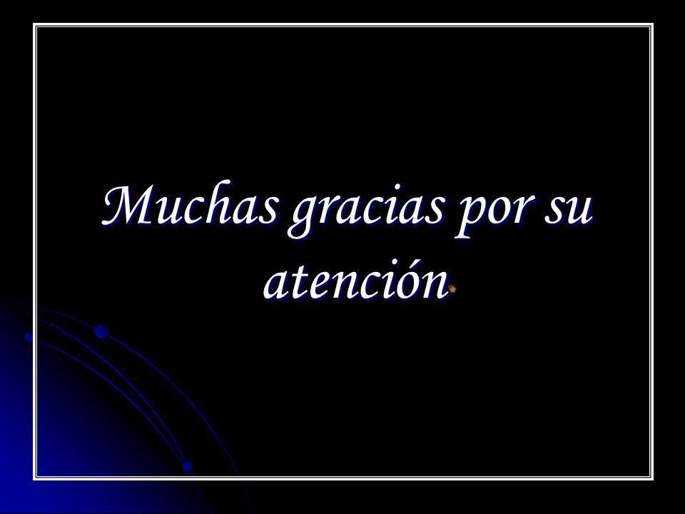 Muchas gracias por su atención *