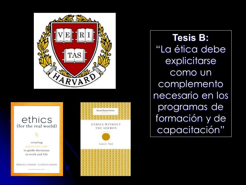 Problemas de la tesis B La gente sabe, pero no hace.