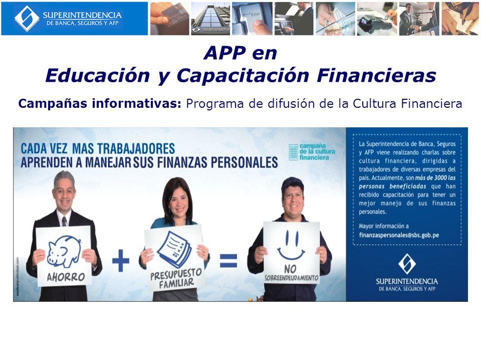 Campañas informativas: Programa de difusión de la Cultura Financiera