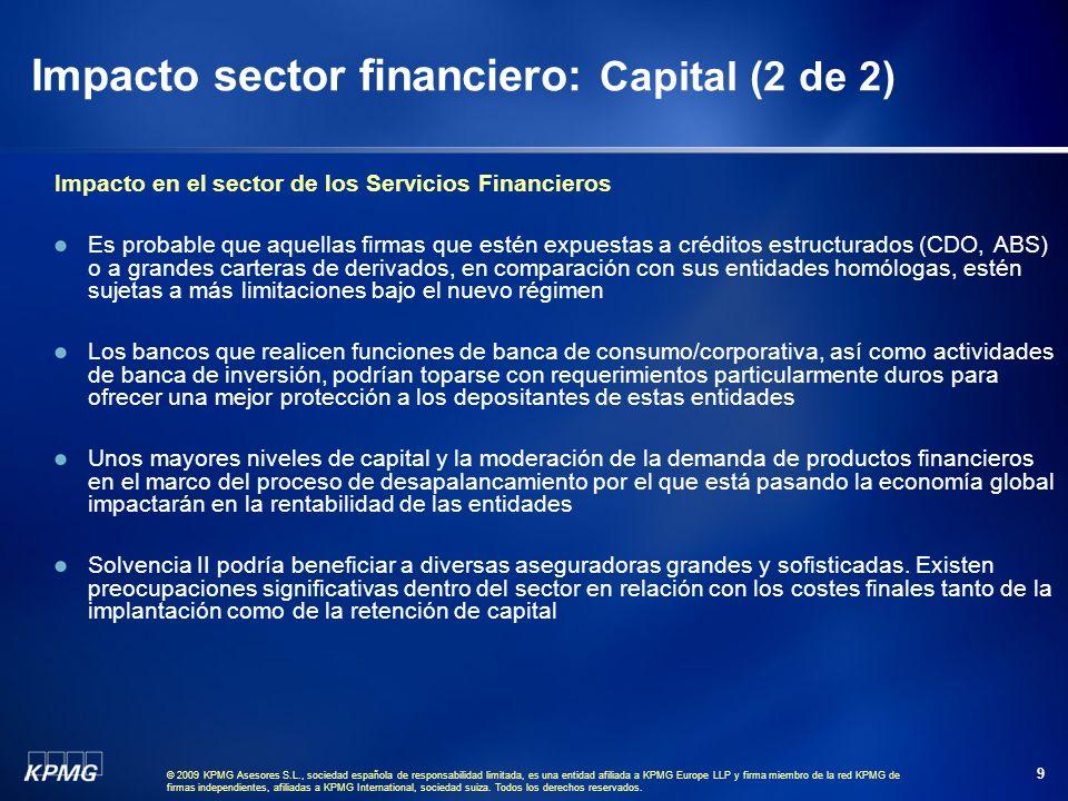 © 2009 KPMG Asesores S.L., sociedad española de responsabilidad limitada, es una entidad afiliada a KPMG Europe LLP y firma miembro de la red KPMG de firmas independientes, afiliadas a KPMG International, sociedad suiza.