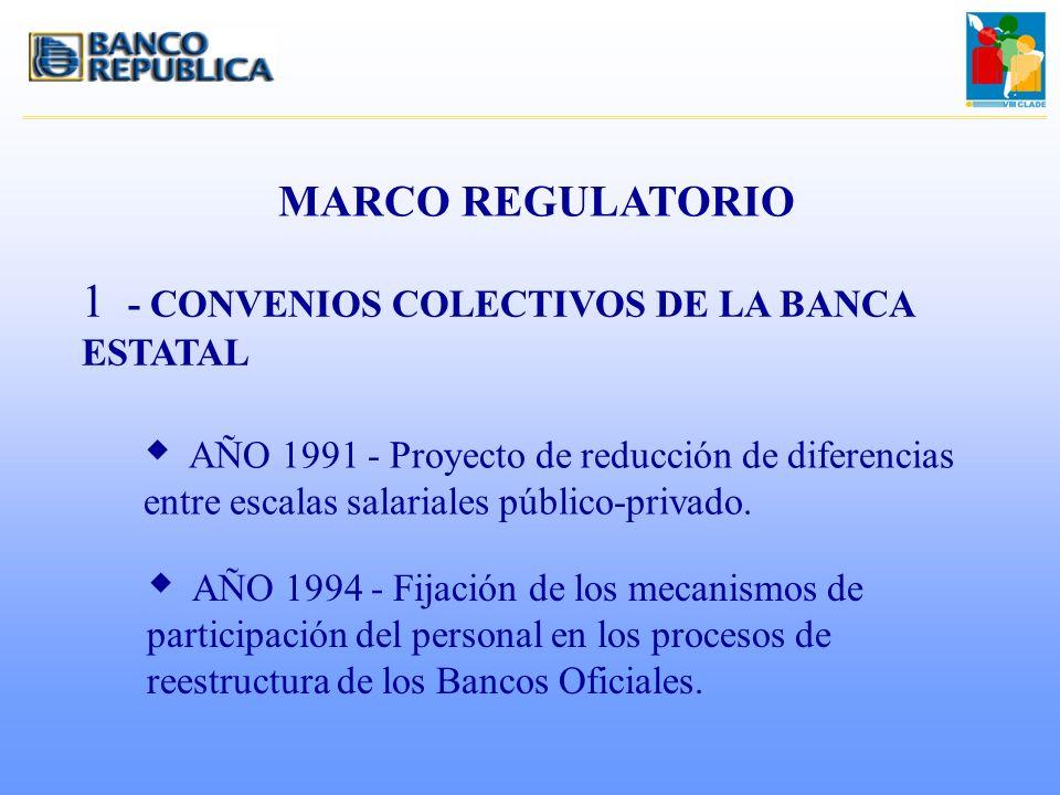 MARCO REGULATORIO 1 - CONVENIOS COLECTIVOS DE LA BANCA ESTATAL w AÑO 1991 - Proyecto de reducción de diferencias entre escalas salariales público-priv