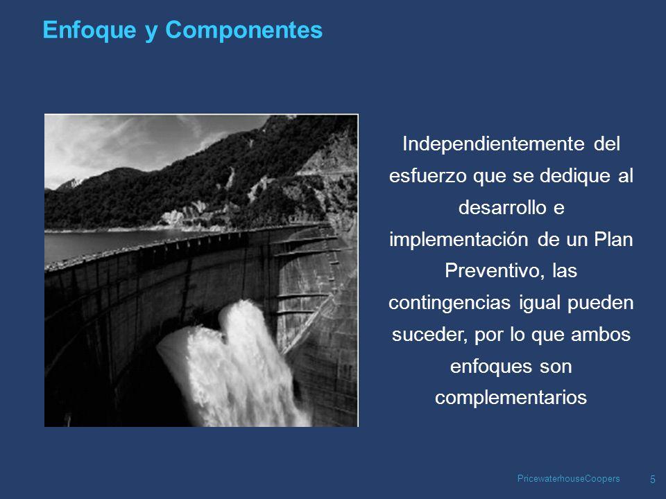 PricewaterhouseCoopers 6 Enfoque y Componentes ¿Qué situaciones hay que prevenir.