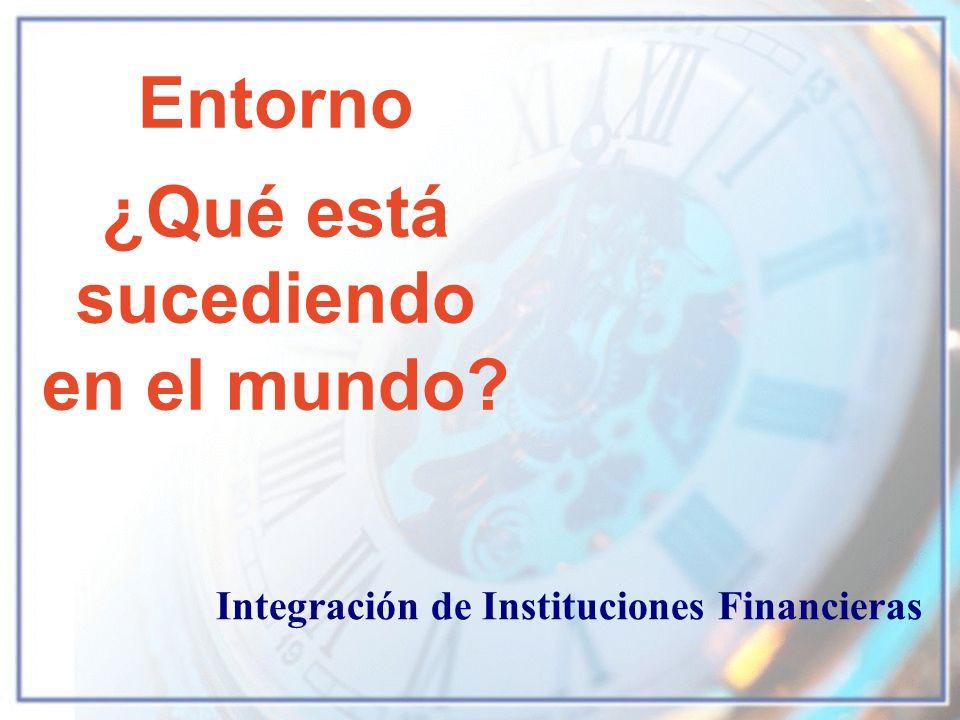 Entorno ¿Qué está sucediendo en el mundo? Integración de Instituciones Financieras