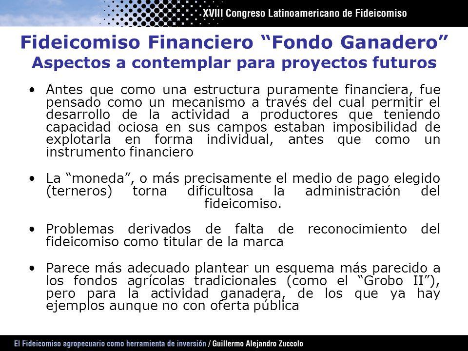 Antes que como una estructura puramente financiera, fue pensado como un mecanismo a través del cual permitir el desarrollo de la actividad a productor
