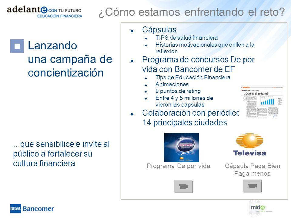 Cápsulas TIPS de salud financiera Historias motivacionales que orillen a la reflexión Programa de concursos De por vida con Bancomer de EF Tips de Edu
