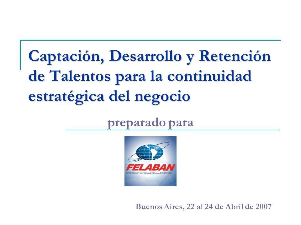 Captación, Desarrollo y Retención de Talentos para la continuidad estratégica del negocio preparado para Buenos Aires, 22 al 24 de Abril de 2007