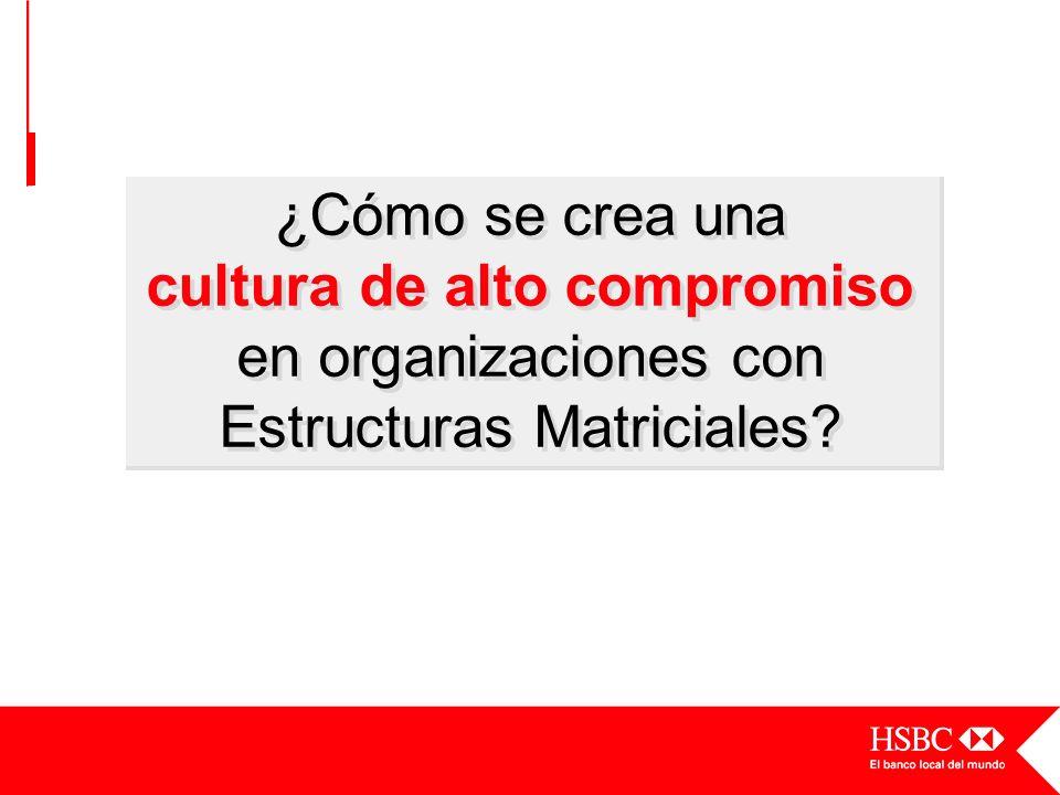 ¿Cómo se crea una cultura de alto compromiso en organizaciones con Estructuras Matriciales?