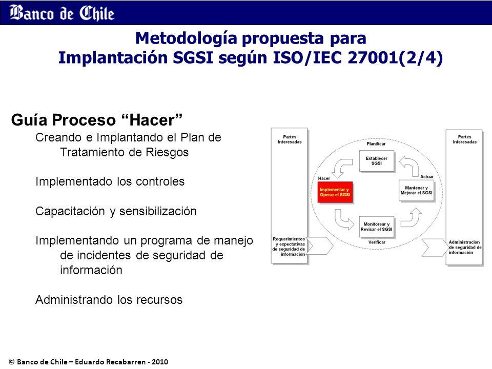Guía Proceso Hacer Creando e Implantando el Plan de Tratamiento de Riesgos Implementado los controles Capacitación y sensibilización Implementando un