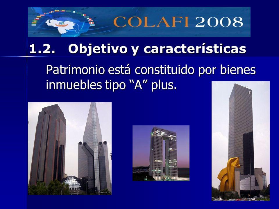 Patrimonio está constituido por bienes inmuebles tipo A plus. 1.2. Objetivo y características