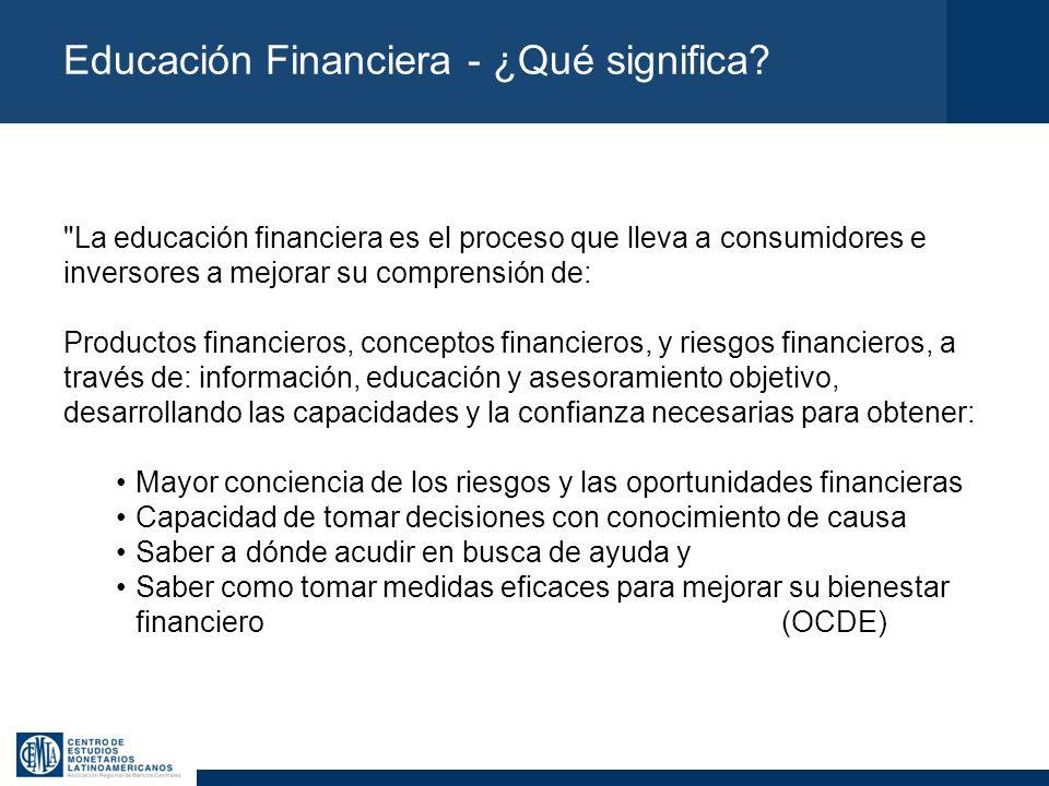 Educación Financiera - ¿Qué significa?