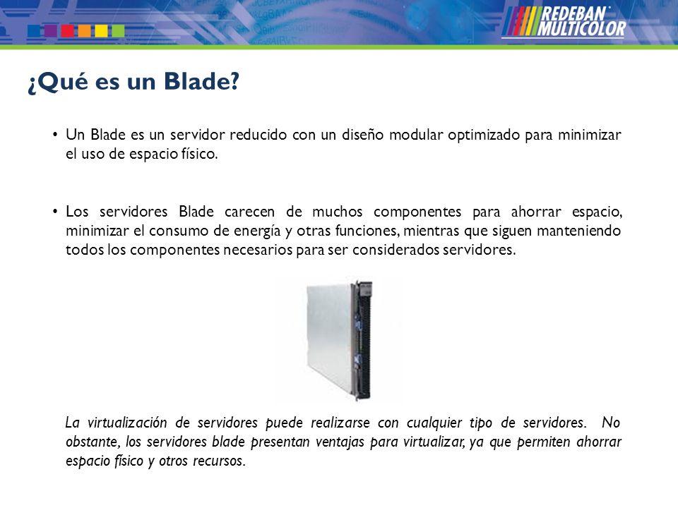 © 2008 Redeban Multicolor S.A. Todos los derechos reservados. Un Blade es un servidor reducido con un diseño modular optimizado para minimizar el uso