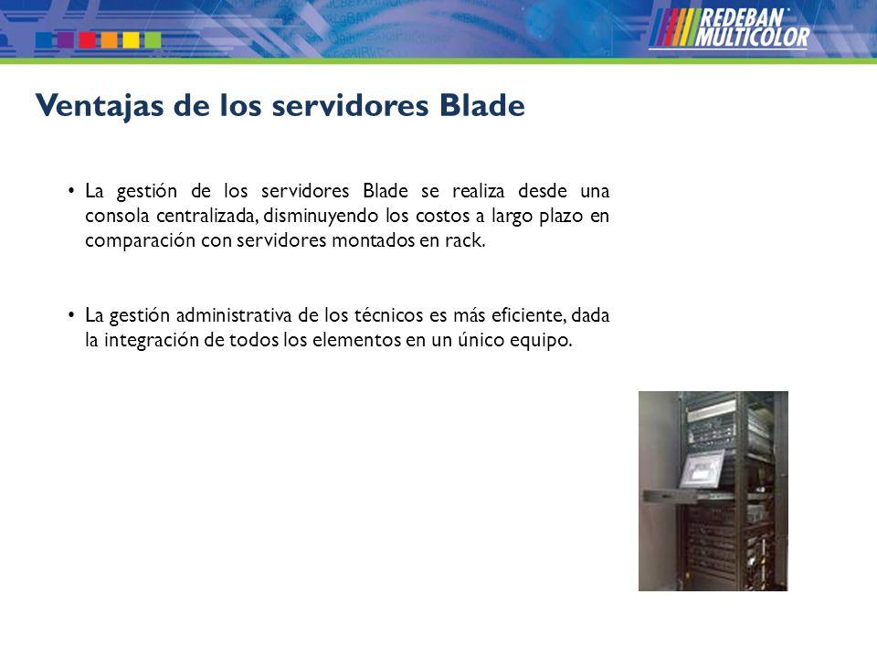 © 2008 Redeban Multicolor S.A. Todos los derechos reservados. Ventajas de los servidores Blade La gestión de los servidores Blade se realiza desde una