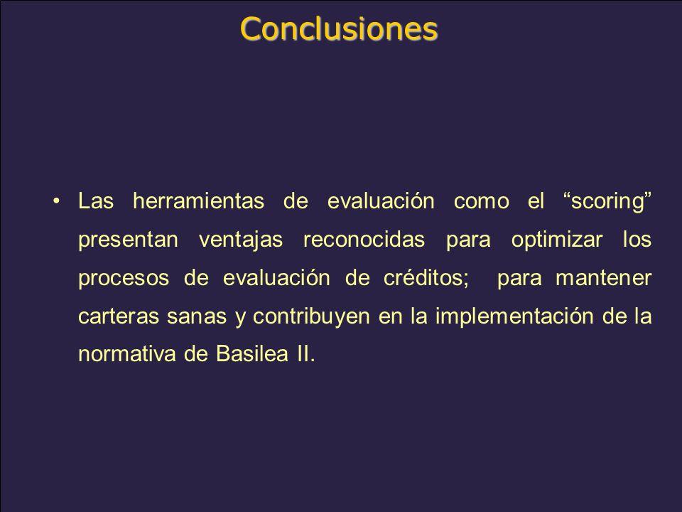 www.alacred.com Conclusiones Las herramientas de evaluación como el scoring presentan ventajas reconocidas para optimizar los procesos de evaluación de créditos; para mantener carteras sanas y contribuyen en la implementación de la normativa de Basilea II.