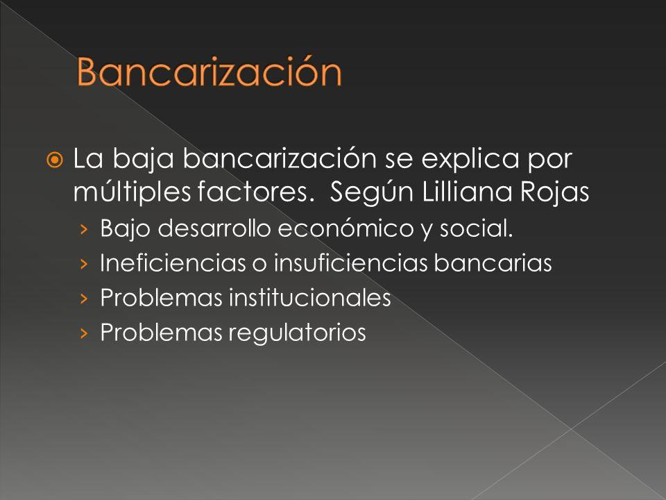 La baja bancarización se explica por múltiples factores.