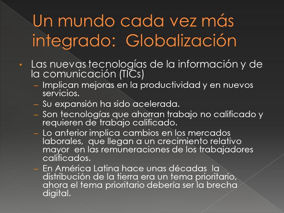 Las nuevas tecnologías de la información y de la comunicación (TICs) – Implican mejoras en la productividad y en nuevos servicios.
