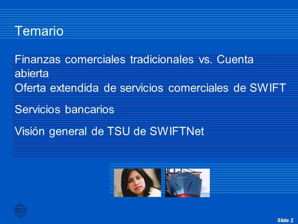 Slide 3 Qué es SWIFT Una organización cooperativa al servicio de la industria financiera Una proveedora de servicios de mensajería financiera de alta seguridad La entidad encargada de la normatividad financiera