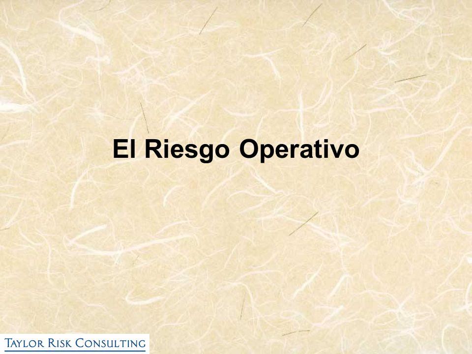 El Riesgo Operativo