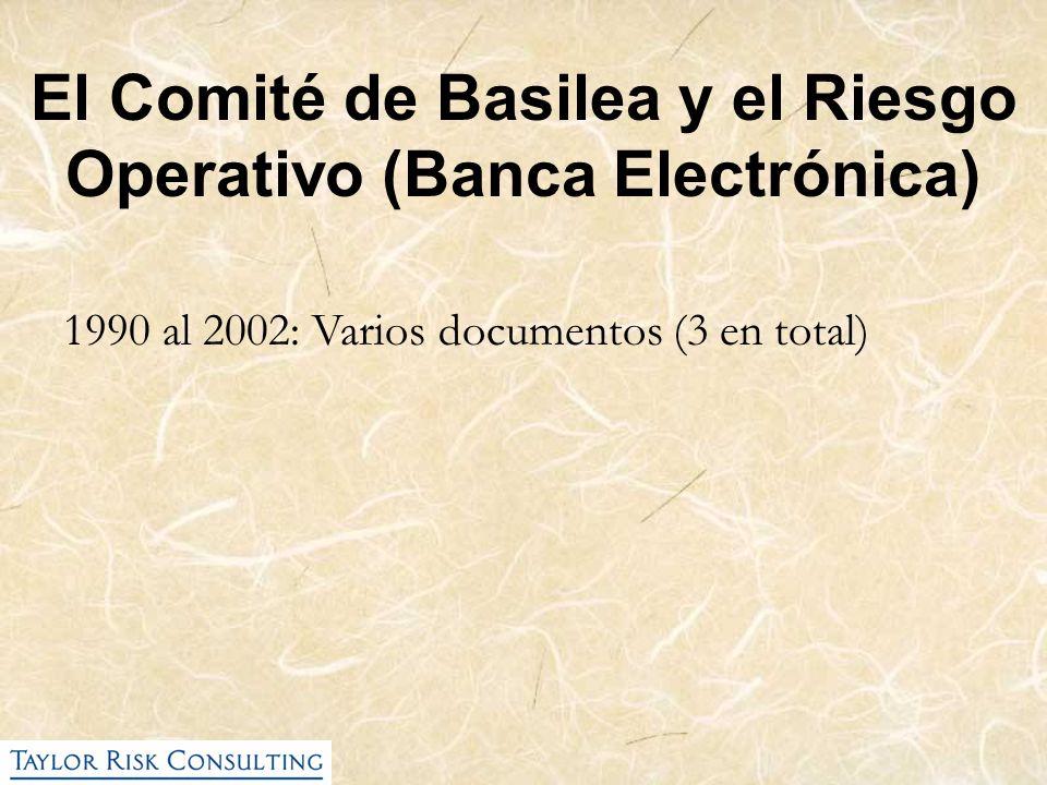 El Comité de Basilea y el Riesgo Operativo (Banca Electrónica) 1990 al 2002: Varios documentos (3 en total)