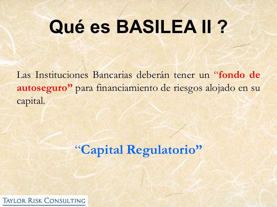 Las Instituciones Bancarias deberán tener un fondo de autoseguro para financiamiento de riesgos alojado en su capital. Capital Regulatorio