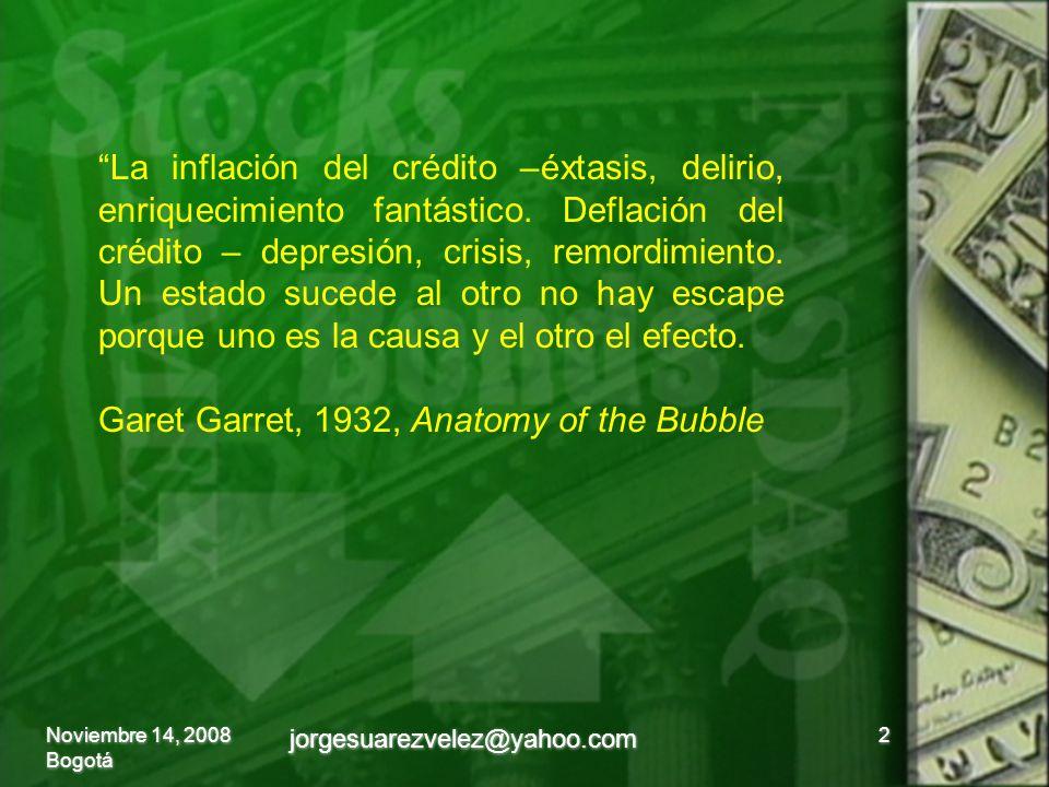 La inflación del crédito –éxtasis, delirio, enriquecimiento fantástico.