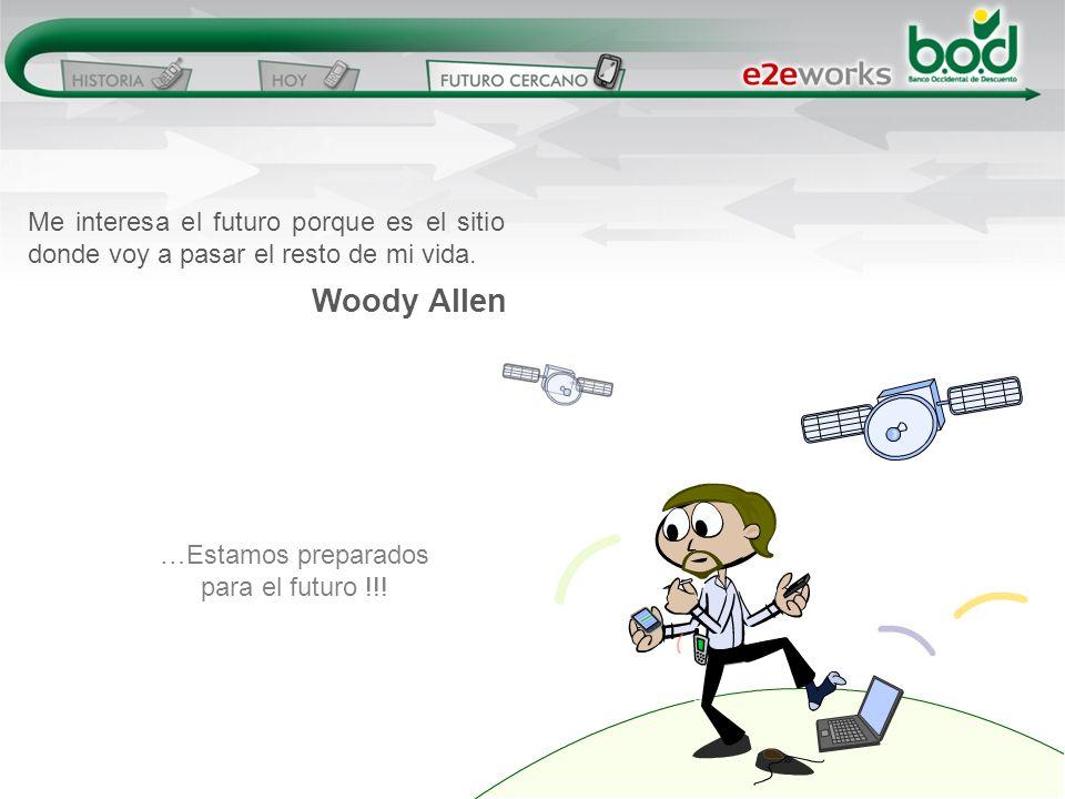 Me interesa el futuro porque es el sitio donde voy a pasar el resto de mi vida. Woody Allen …Estamos preparados para el futuro !!!