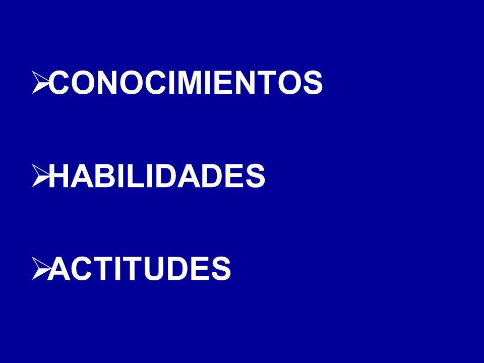CONOCIMIENTOS HABILIDADES ACTITUDES