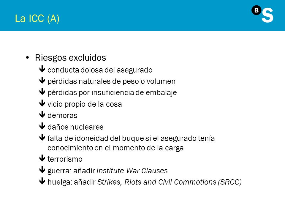 El Combined Transport Bill of Lading + ACEPTACIÓN l Puntos significativos del contrato: 3 sitio de aceptación versus puerto de embarque 3 sitio de entrega versus puerto de descarga l Incoterms FCA, CIP, CPT l Artículo 26 UCP500 l Documento Received for transportation ENTREGA