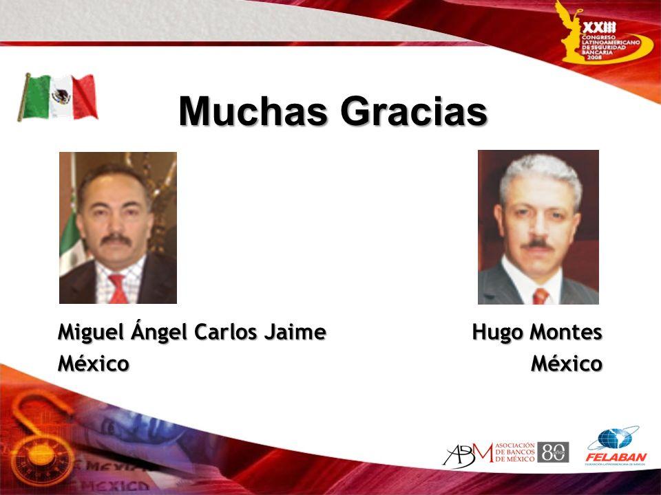Miguel Ángel Carlos Jaime México Hugo Montes México Muchas Gracias