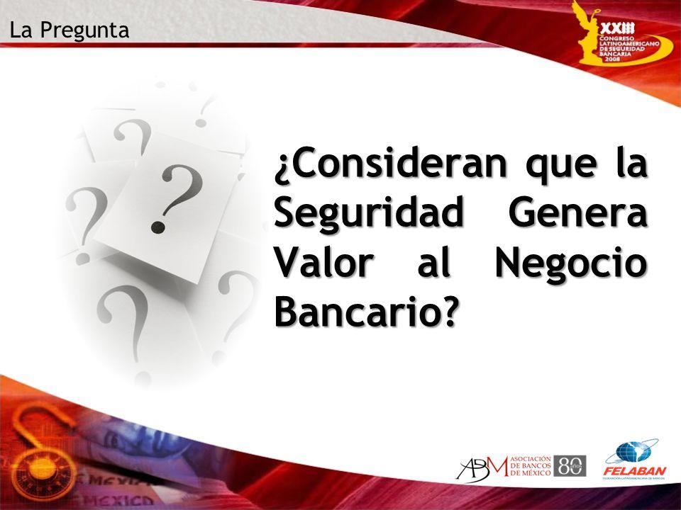 La Pregunta ¿Consideran que la Seguridad Genera Valor al Negocio Bancario?