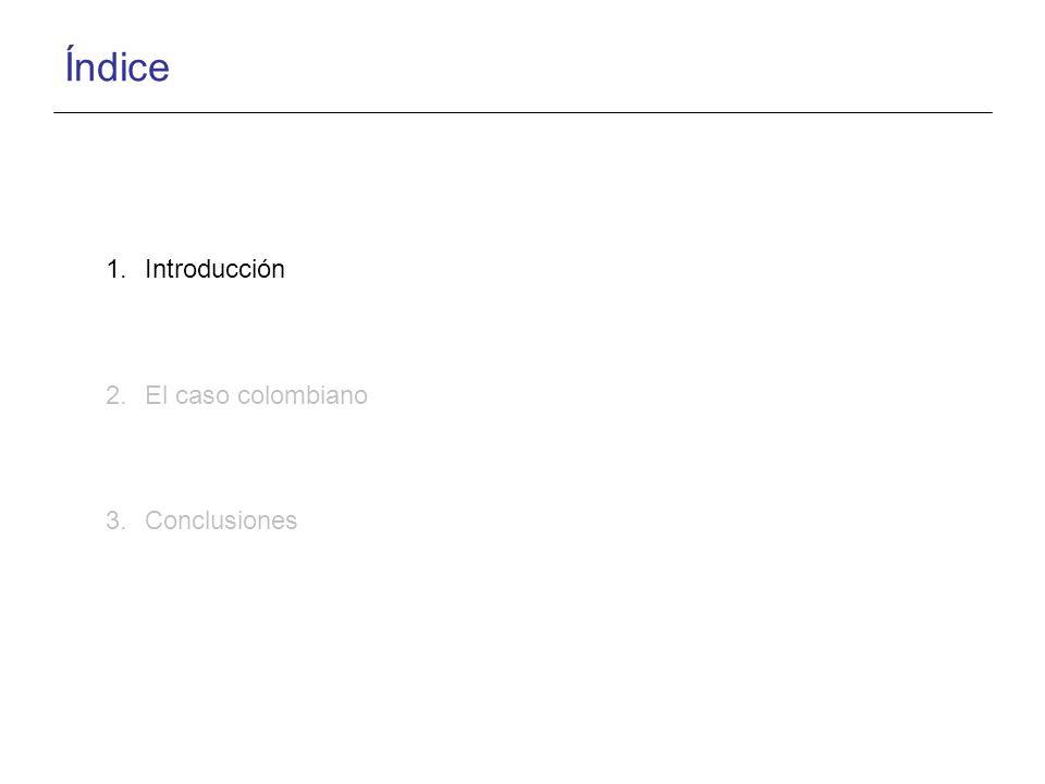 Índice 1.Introducción 2.El caso colombiano 3.Conclusiones
