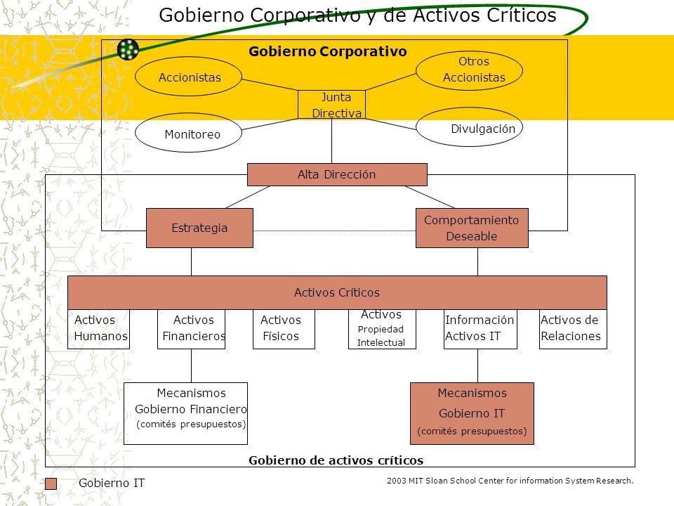 Activos Críticos Estrategia Comportamiento Deseable Alta Dirección Gobierno Corporativo Gobierno Corporativo y de Activos Críticos Otros Accionistas M