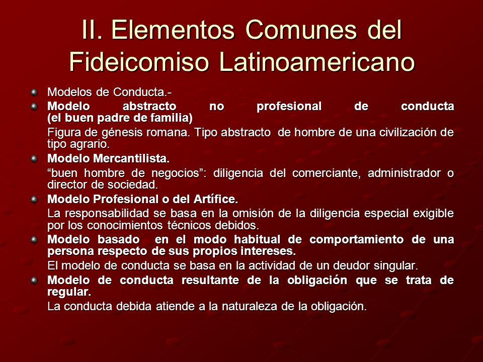 II. Elementos Comunes del Fideicomiso Latinoamericano Modelos de Conducta.- Modelo abstracto no profesional de conducta (el buen padre de familia) Fig