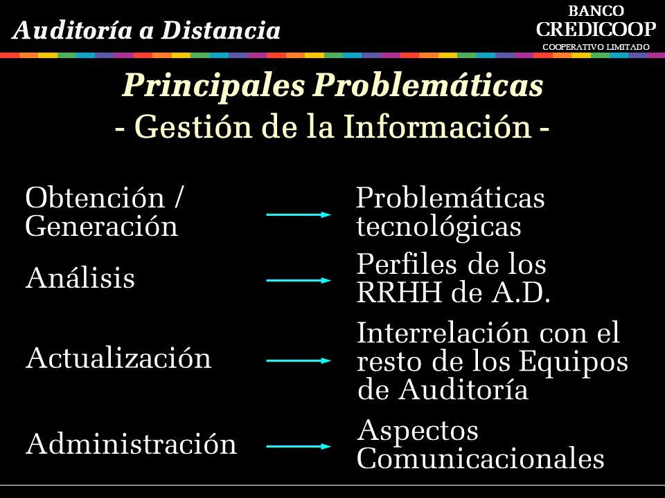 Aspectos Comunicacionales Administración - Gestión de la Información - Principales Problemáticas Perfiles de los RRHH de A.D. Análisis Interrelación c